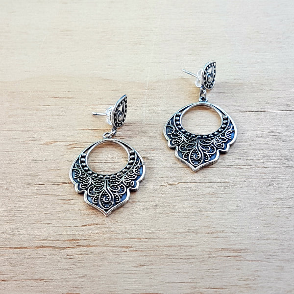 Silver Champa Earrings