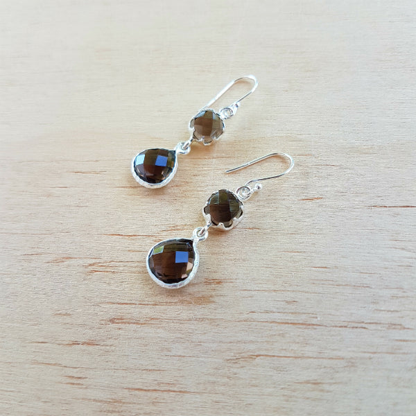 Smoky Quartz Aaravi Earrings