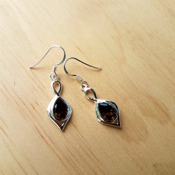 Smoky Quartz Padmini Earrings