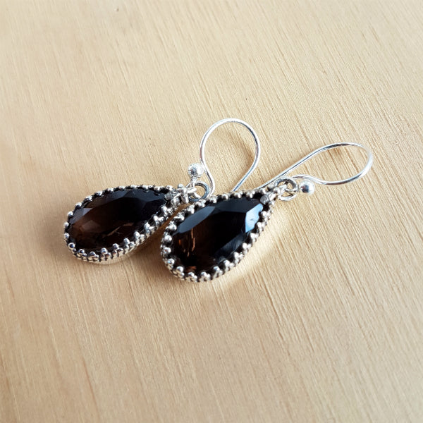 Smoky Quartz Artisan Earrings