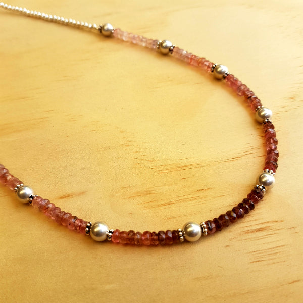 Tourmaline Beaded Necklace - Inspired Tribe Silver Jewellery