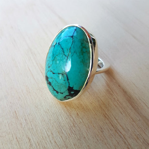 Turquoise Square Shank Ring