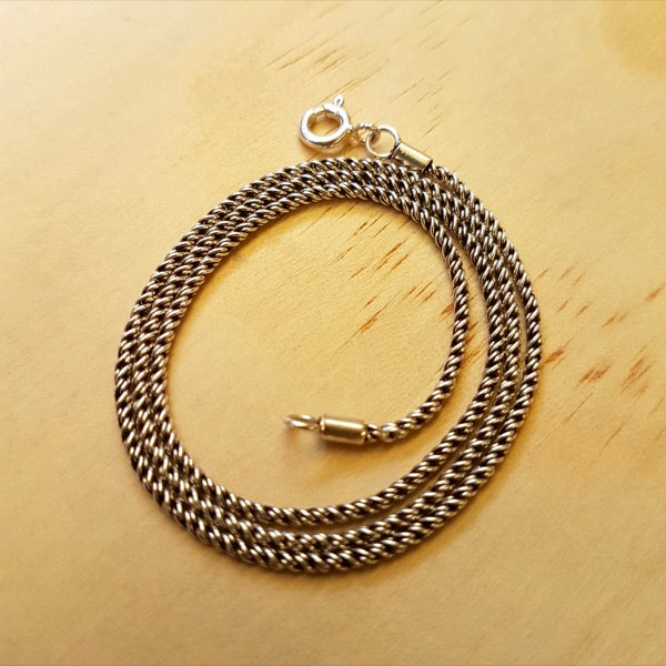 Braided Rope Chain 1.5mm - Inspired Tribe Silver Jewellery