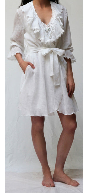 38005  Short Wrap Robe