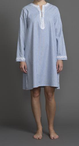 39207 Cotton Stripes Short Beach Caftan