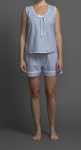 39209 Cotton Stripes Tank Top and Boxer Set