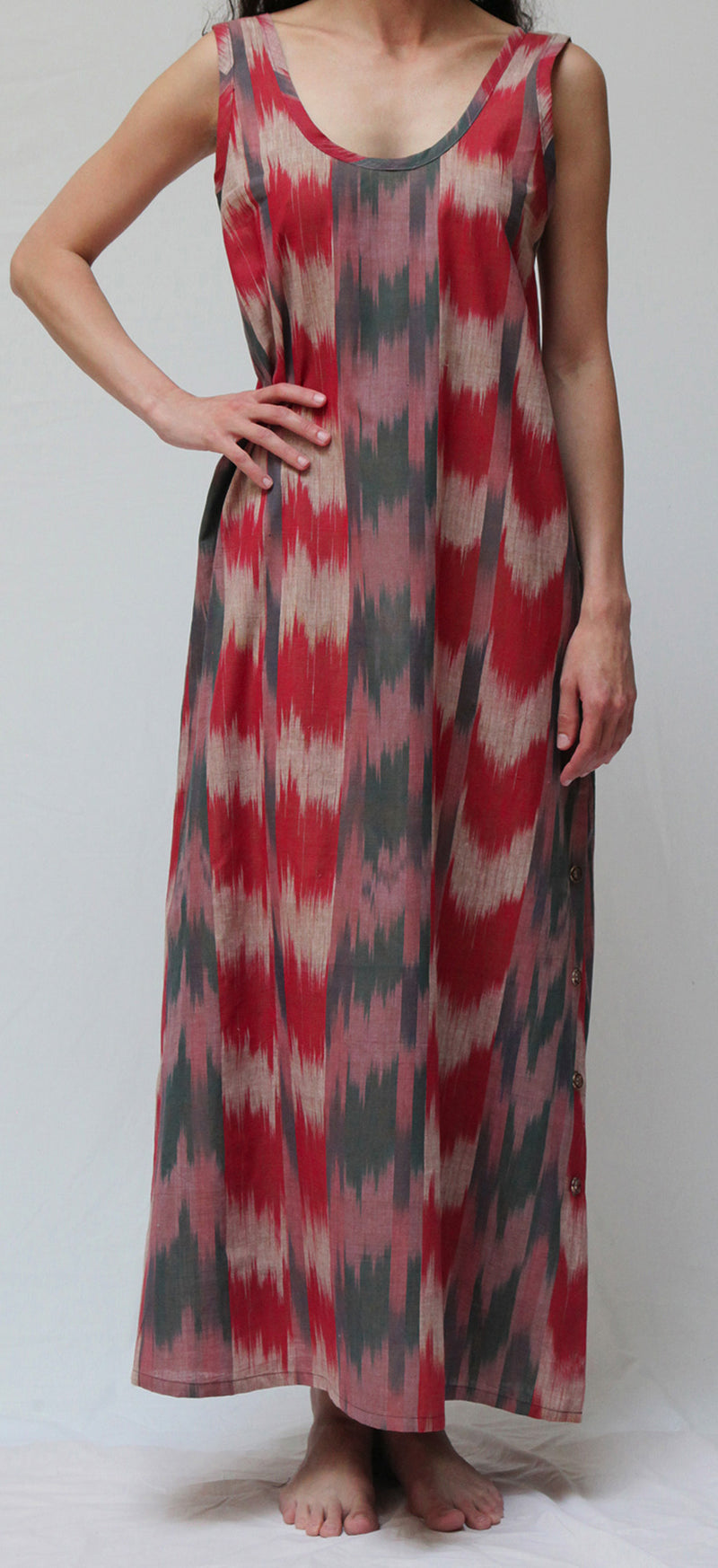 39344 Vintage Ikat  Long Gown