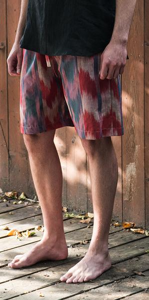 74712  Vintage Ikat most comfortable shorts