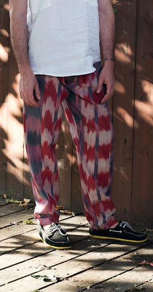 203 Vintage Ikat Relaxed fit pants