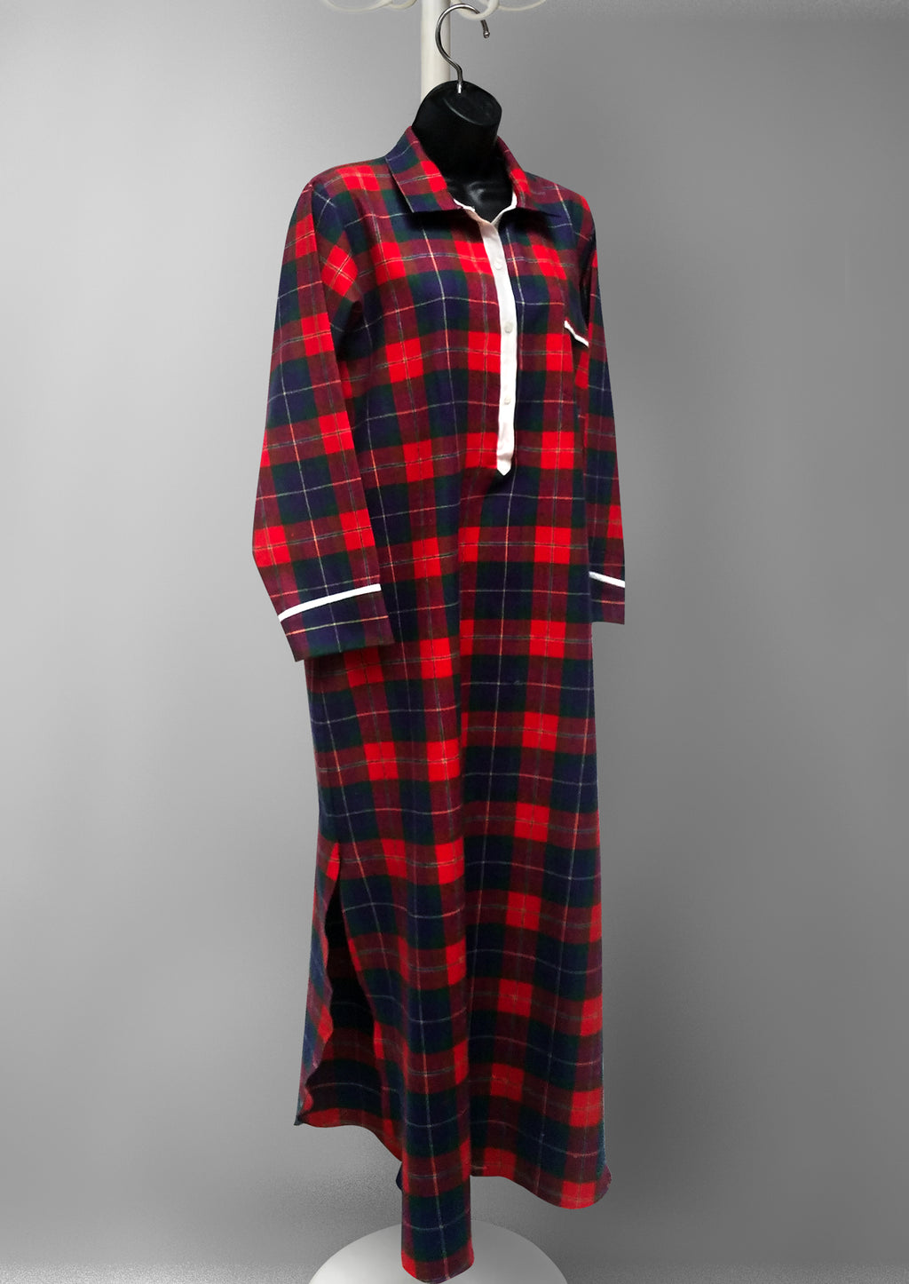 39904 Flannel printed nightshirt  -final sale-no returns