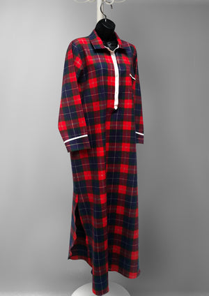 39904 Flannel printed nightshirt