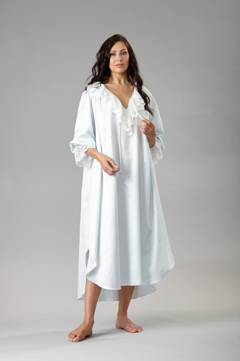 34182 Cozy Satin  Poet nightshirt