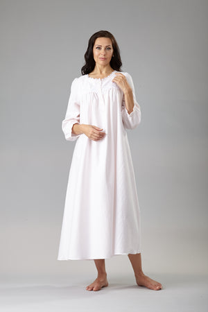 39214 Flannel Long gown with long sleeves