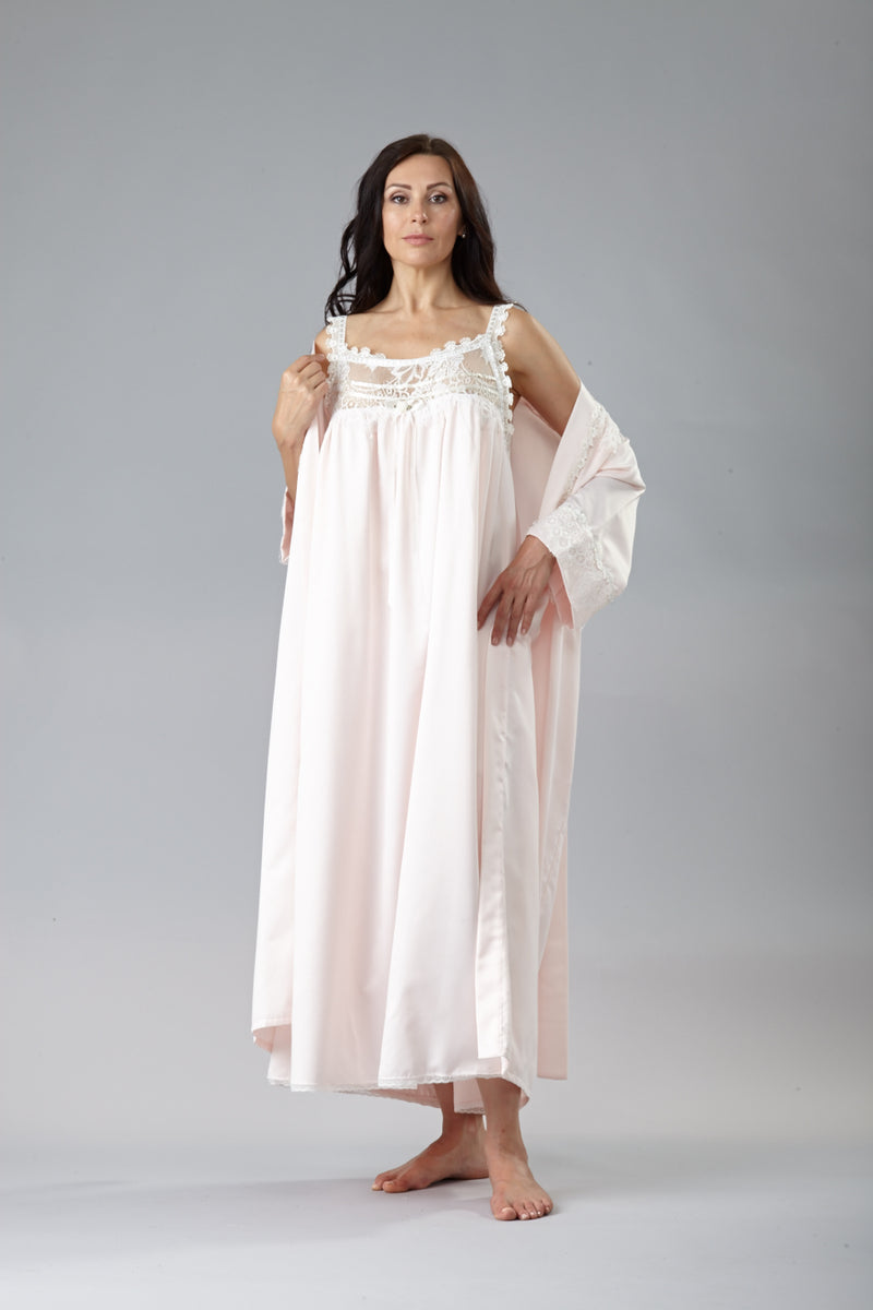 39672 Cozy Satin Long Gown