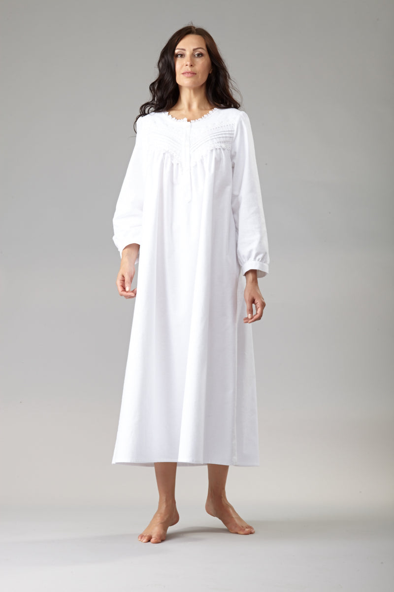 34019 Long flannel gown