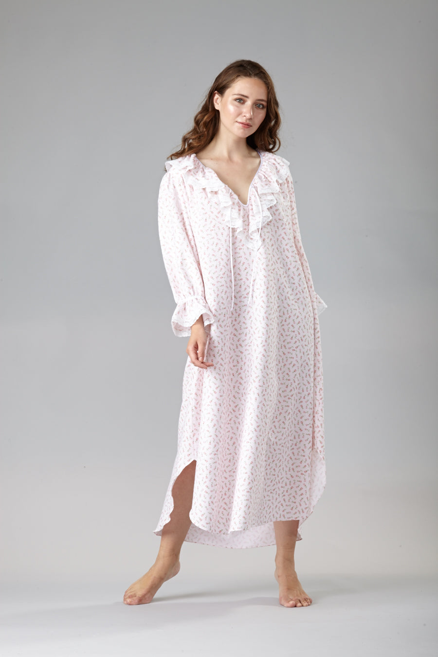 60001 Adorable Flannel flower print nightshirt- Back in stock ! ( and NEW PRINT IN)