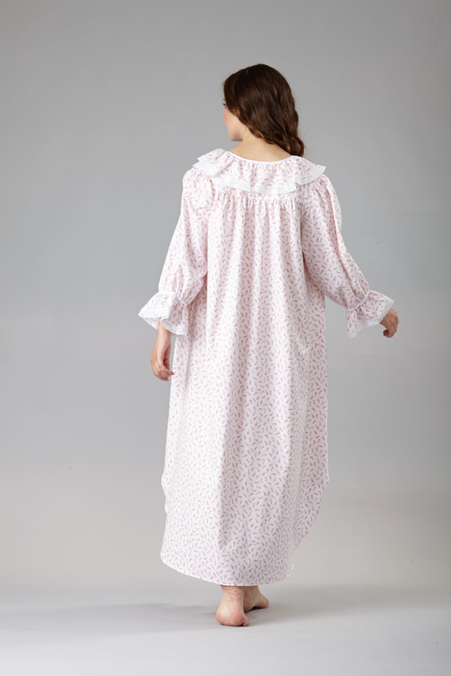 60001 Adorable Flannel flower print nightshirt