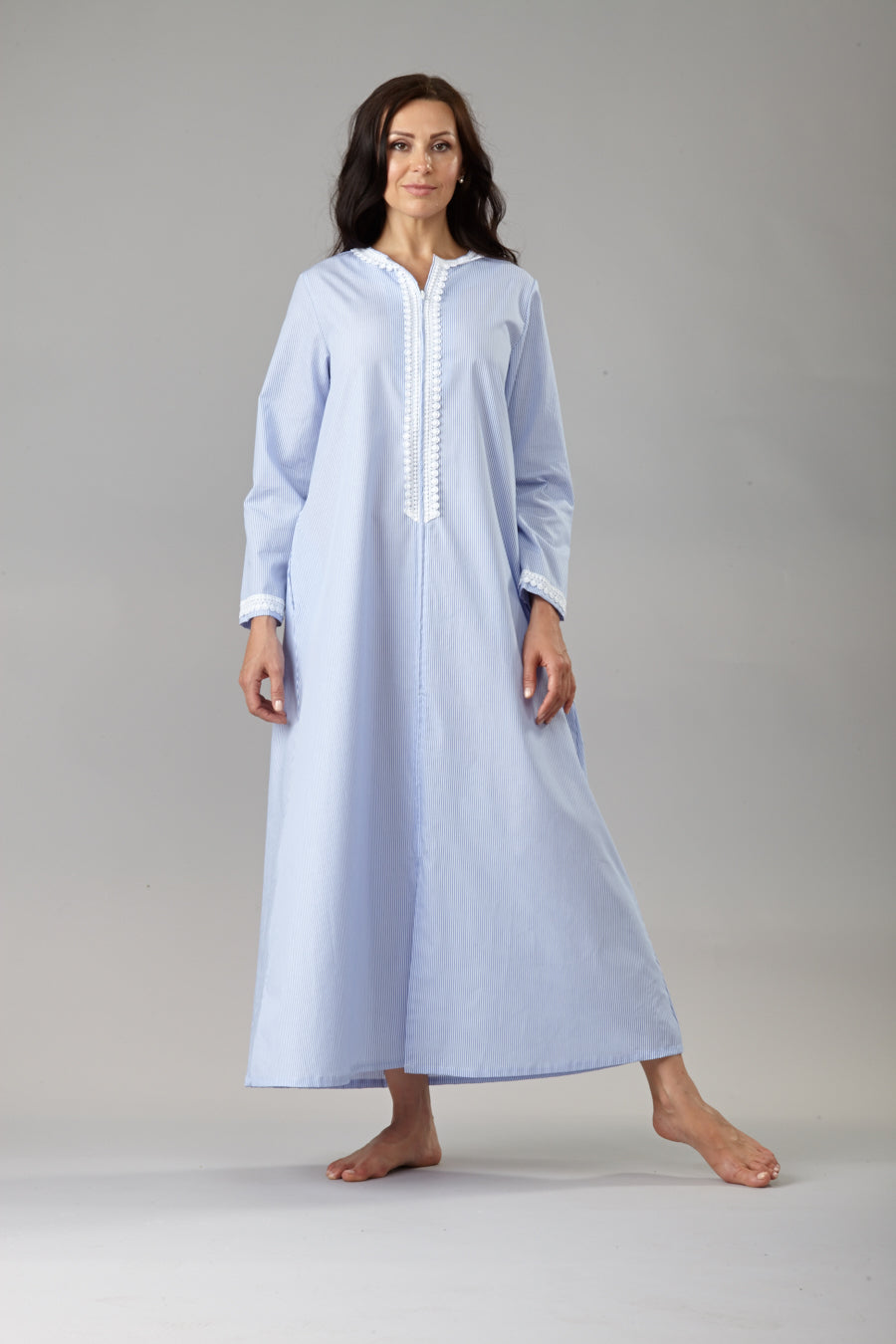70010 Long zipped caftan