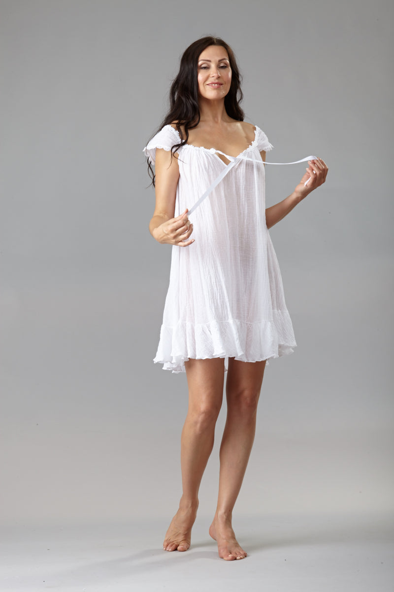 38007CREPON - Adorable short gown