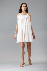 6048 - Short gown with ruffle