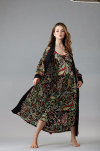 40302 Long shawl collared robe