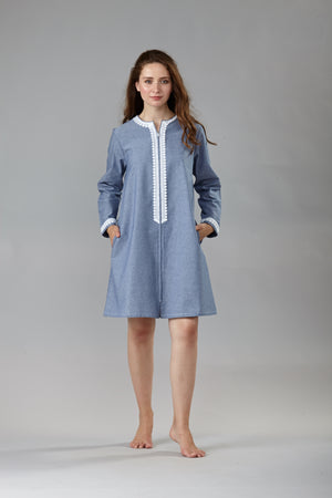 6055 Short zipped caftan