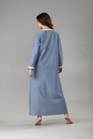 6056 Long zipped caftan