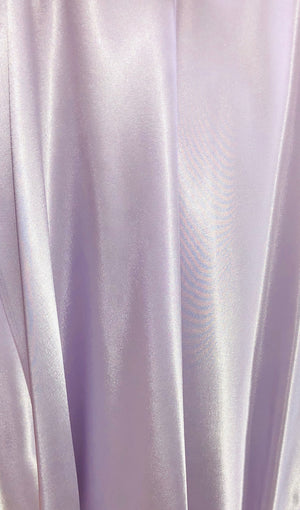 34010  Satin Long Kimono ( Orchid color on sale)