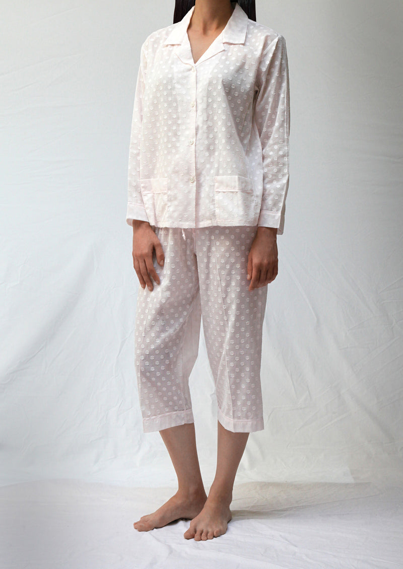 39355 Pyjama set with capri pants