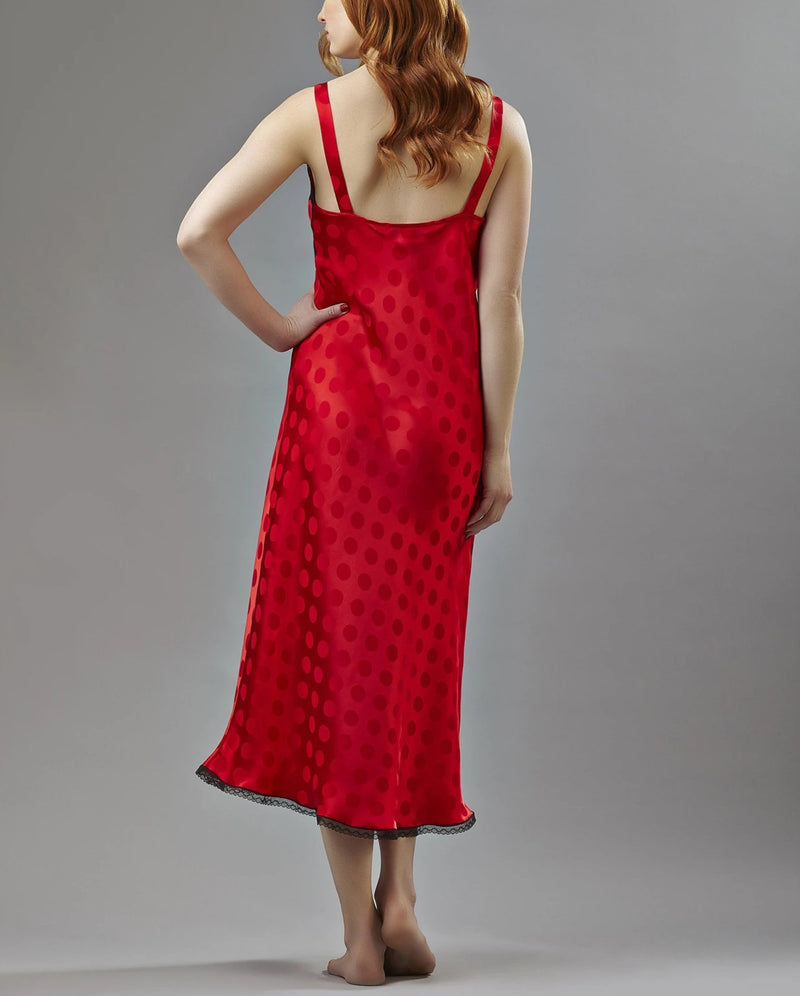 Silk Jacquard long gown