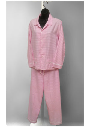 39905 Flannel printed classic PJ Set - (Pink checks SOLD-OUT) new colors in