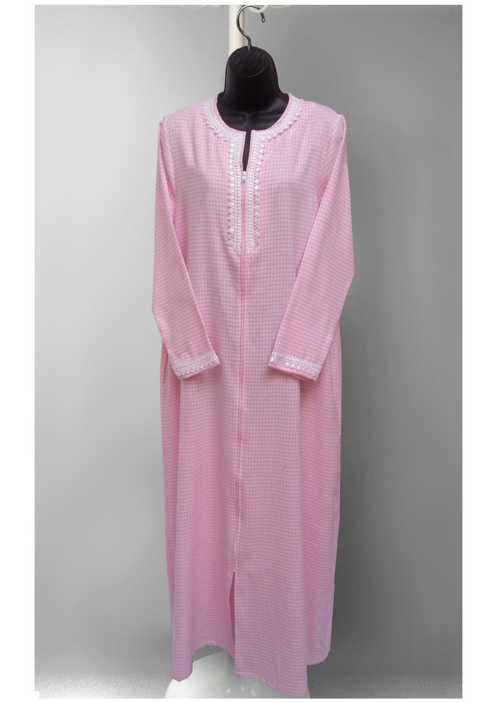 39908 Flannel printed Caftan Robe-final sale-no returns
