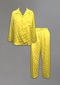 Silk Jacquard PJ Set- YELLOW TO CLEAR