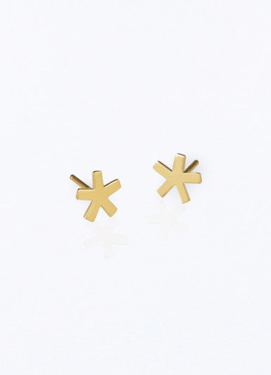 Asterisk Gold Earrings
