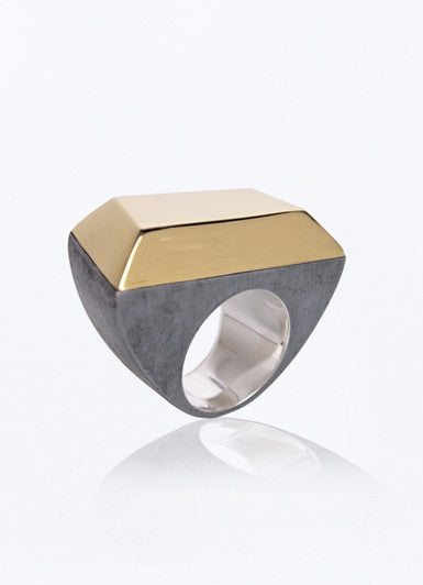 Metallic Stone Ring