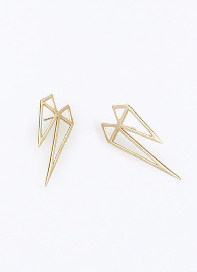 One Night Double Gold Earrings