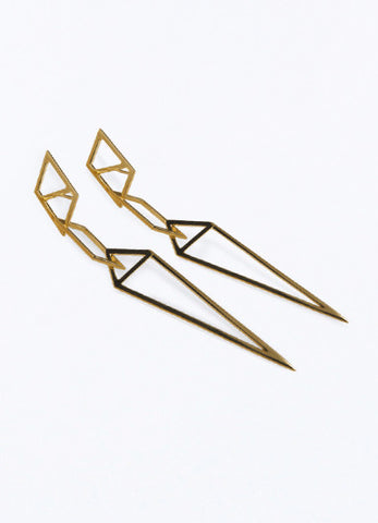 One Night Long Gold Earrings