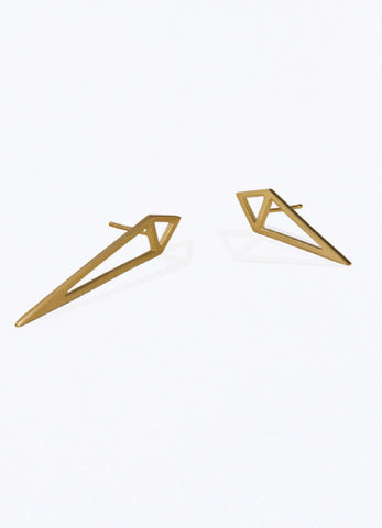 One Night Simple Gold Earrings