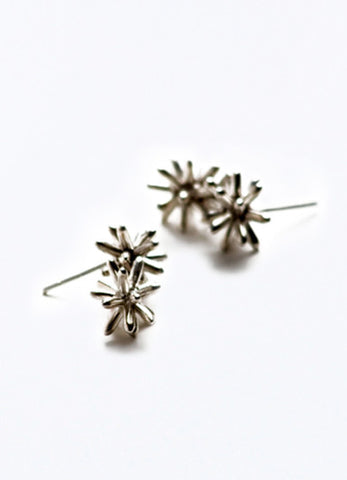 Pom Pom Double Earrings