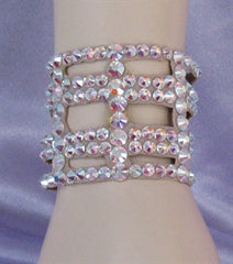 Ballroom Bracelet in a cutout pattern - 2 inches wide - Swarovski Bracelet - Ballroom Jewels