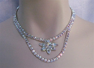 Half Flower Ballroom Necklace