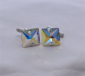 Men's AB Crystal cuff links
