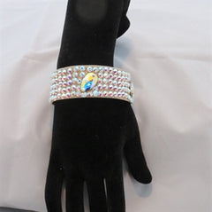 "Ballroom Bangle Bracelet 1"" wide with large crystals - Swarovski Bracelet - Ballroom Jewels - 1"