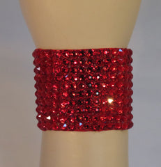 Swarovski Crystal 2 in wide Ballroom Bracelet in Light Siam - Swarovski Bracelet - Ballroom Jewels