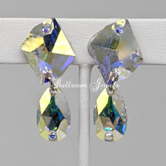 Ballroom Swarovski Crystal Cosmic and pear earrings