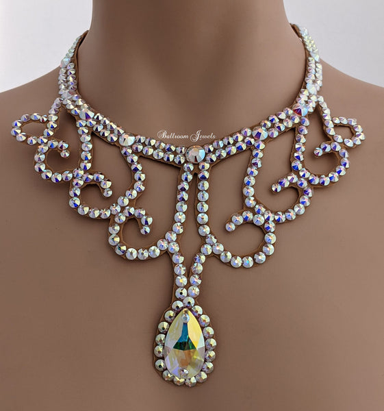 Swarovski Swirls and Pear Necklace