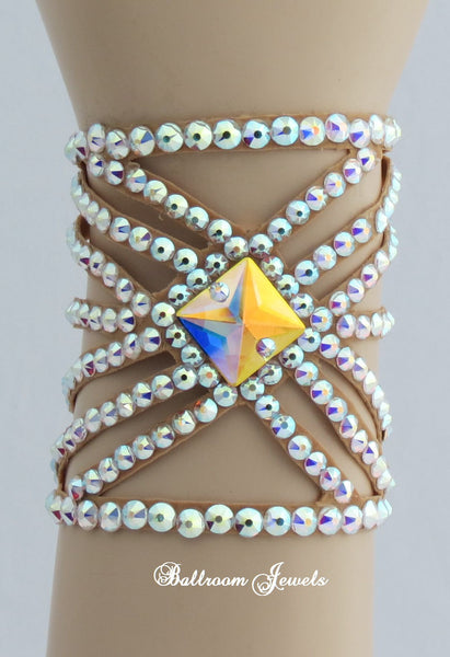 Ballroom Bracelet Square Crystal Spray design pattern