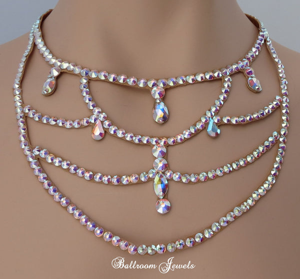 Ballroom Chandelier Necklace Swarovski Crystal