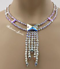 Ballroom Deco Square drop Swarovski Necklace - Swarovski Necklace - Ballroom Jewels
