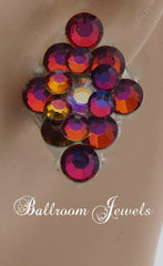Ballroom Earrings multi crystal Volcano - Earrings - Ballroom Jewels